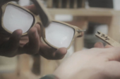 Wooden Glasses Crafted from Whiskey Barrels