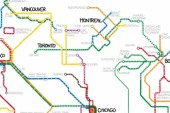 Best Thing on the Internet Today: If All The Subways in North America Were Connected