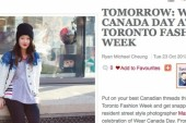 Where's the Support on Wear Canada Day at Toronto Fashion Week?