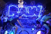 PHOTOS: RAW Throws People-Powered Party Running on Human Energy