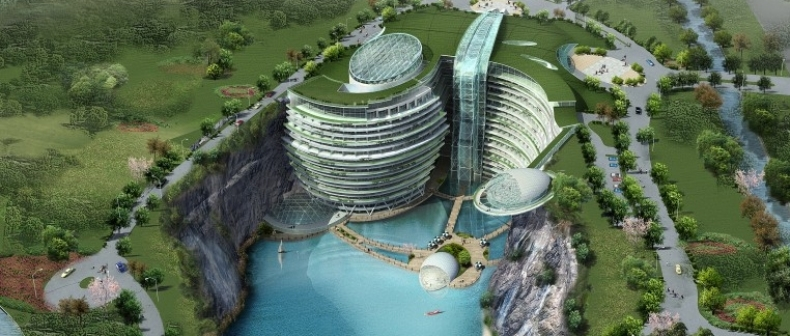 An Abandoned Quarry May Not Seem Like The Ideal Location For A New Luxurious Hotel To Some But Atkins British Enigineering And Design Consultancy Firm